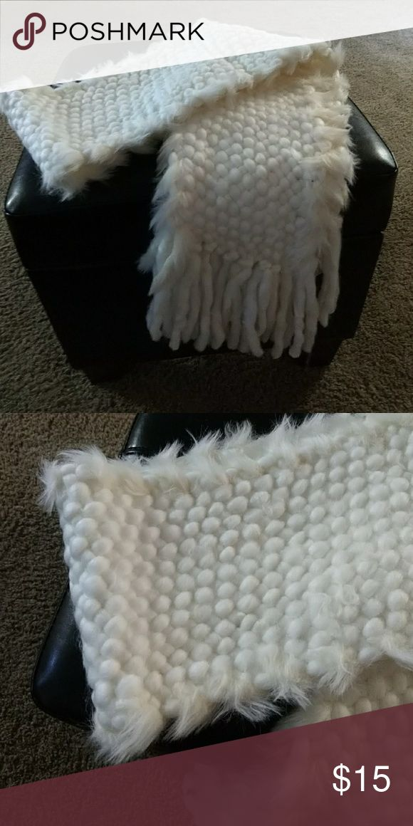 Woolen Scarf white Woolen scarf. Very soft. New with tag Maurices Accessories Scarves & Wraps