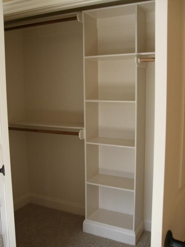 might work for one of our closet redesigns in the small space