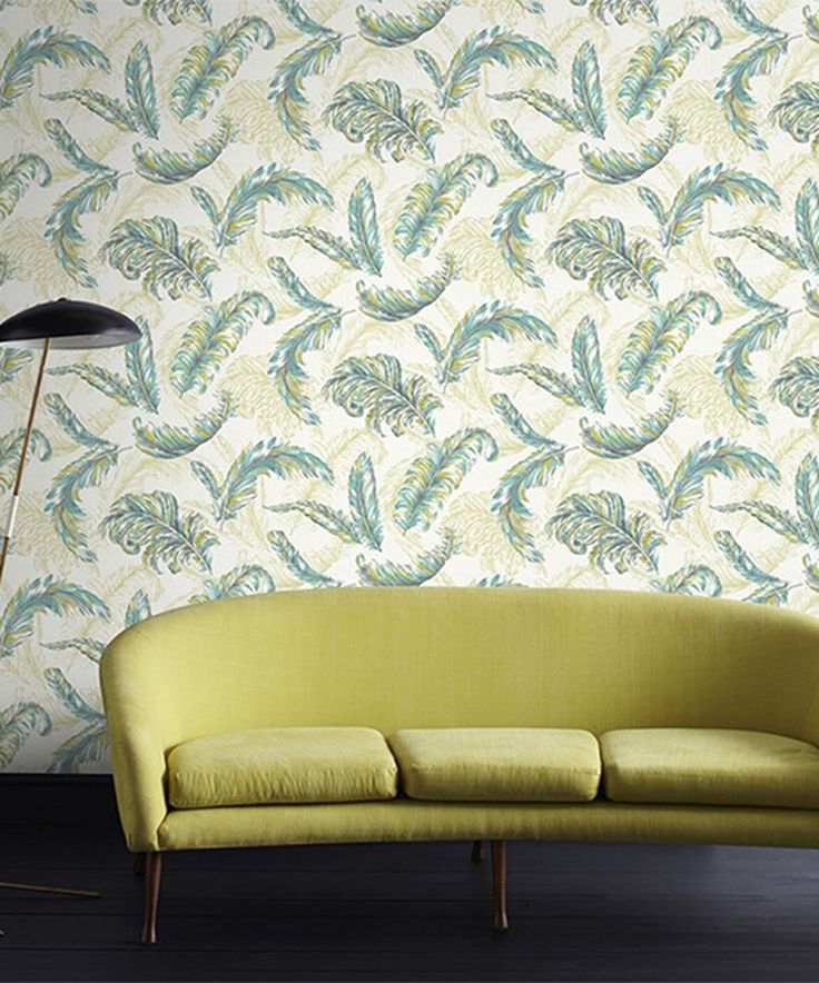 Look at this #zulilyfind! Green & Teal Gilded Feather Wallpaper by Graham & Brown #zulilyfinds