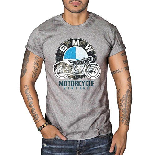 Buy BMW R50 Vintage MOTORCYCLE BIKER Mens Top Dry Grey T-Shirt - Topvintagestyle.com ✓ FREE DELIVERY possible on eligible purchases