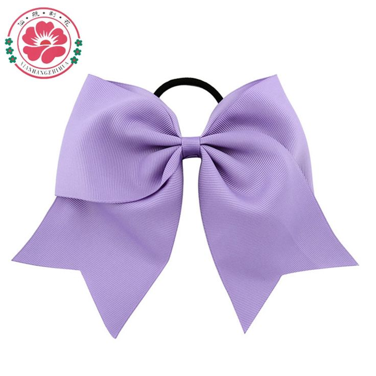 8 Inch Large Solid Girls Cheerleading Hair Bow Grosgrain Ribbon Cheer Bow Elastic Band Ponytail Hair Holder For Girl /Women 598