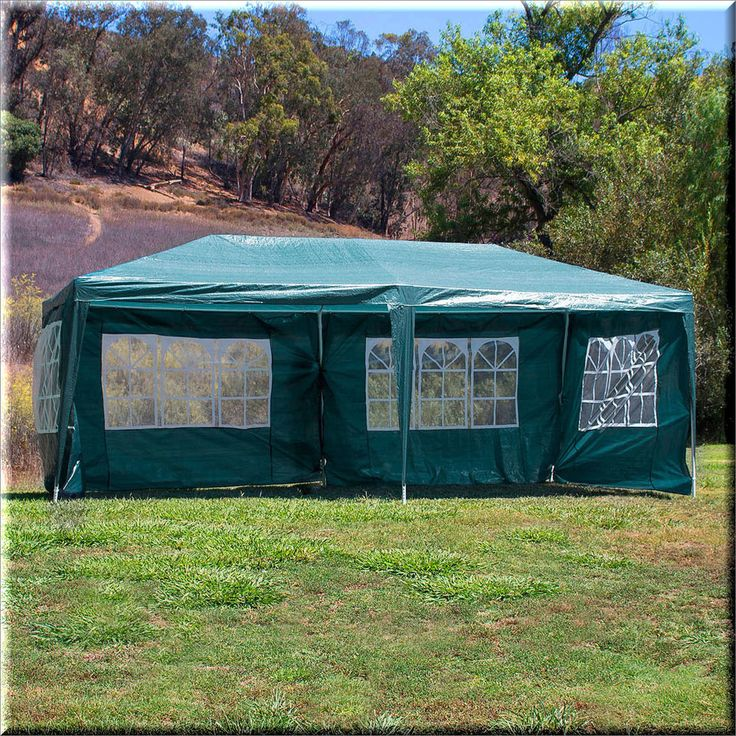 Outdoor Canopy Tent Gazebo Shelter 10x20 Green Waterproof Cover Sidewalls US $149.09#OutdoorCanopyTentGazebo
