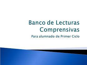 Blog de Atención a la Diversidad: Banco de Lecturas Comprensivas para Primer Ciclo