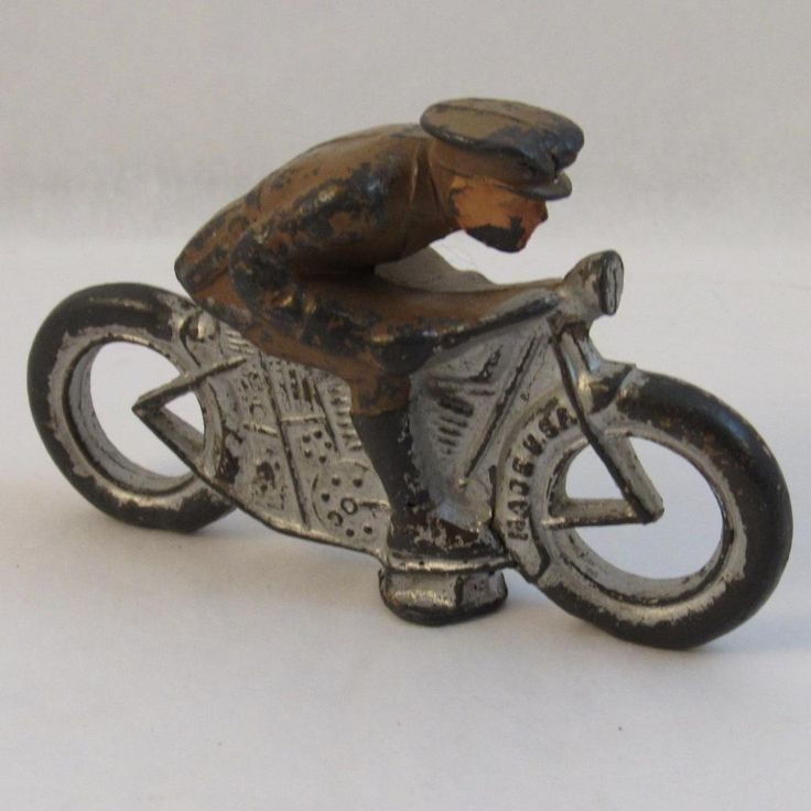 Barclay Cast Lead Soldier Motorcycle with Military Rider