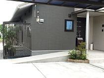 駐車スペースからのスロープ設置例