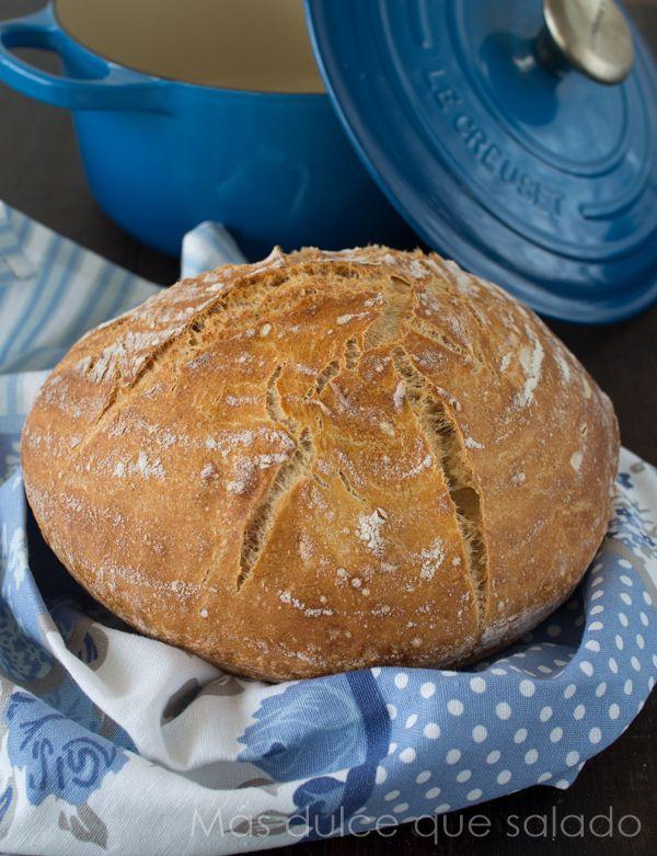 Más dulce que salado: Pan con masa vieja ( con y sin cocotte)