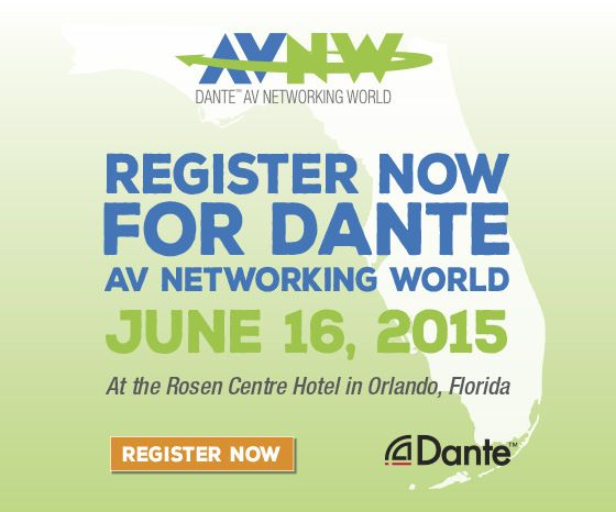 Join Mackie at Dante AV Networking World - InfoComm 2015