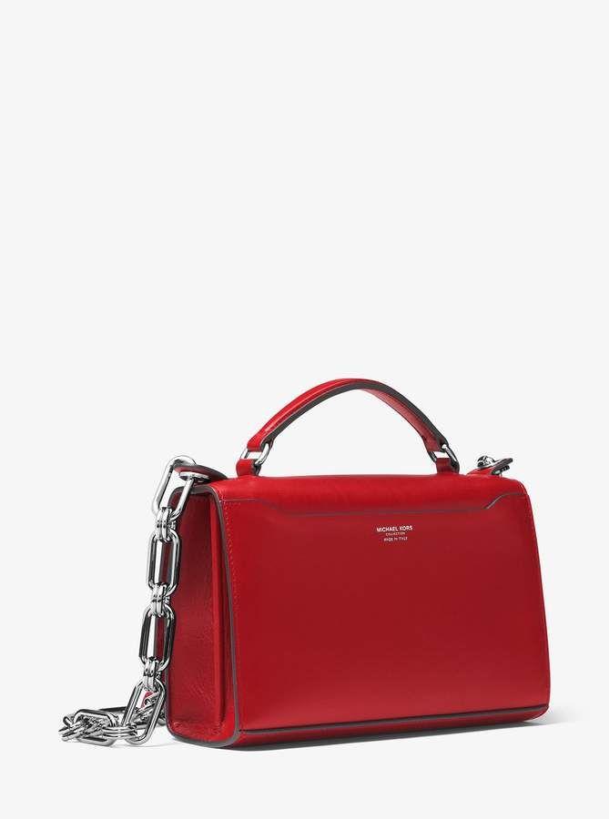 a5d217f55f99 Michael Kors Bancroft Calf Leather Shoulder Bag