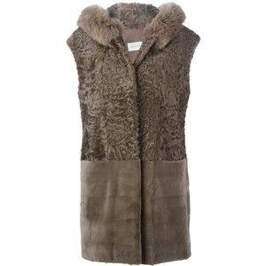 Yves Salomon sleeveless hooded coat
