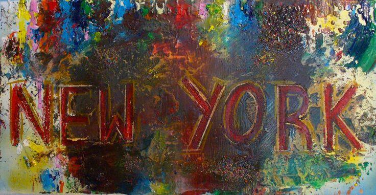 New York Acryl Gemälde