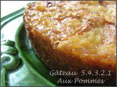 Gâteau 5.4.3.2.1 aux pommes - Mes tables de Fêtes