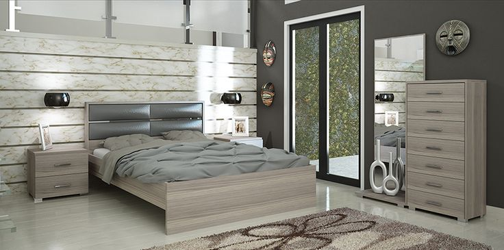 Κρεβατοκάμαρα ΑΜΑΝΤΑ Σετ κρεβατοκάμαρα με στρώμα. Κρεβάτι :162x 208cm Κομοδίνο:50×34 cm Συρταριέρα :60 x123x45cm Καθρέπτης :170x60cm Διατίθεται σε χρώμα: Wenge,Καρυδί και Σταχτί. Tα κομμάτια πωλούνται και ξεχωριστά.