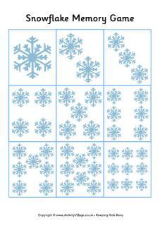 Snowflake memory game 1