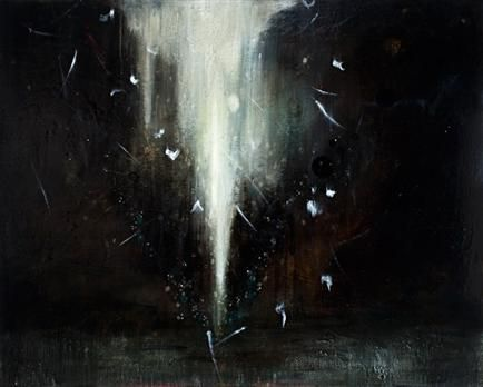 Looking into the Heart of Night, 2010, Oil and encaustic on board, 1500mm x 1200mm
