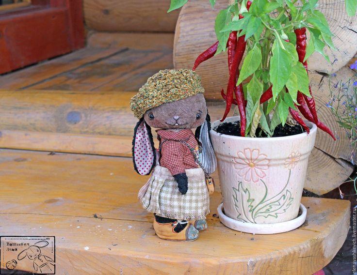 Купить Стеша - комбинированный, тедди, зайка, осень, сад, дом, плюш, винтаж, мишки тедди