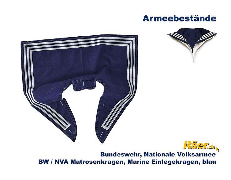 BW/NVA Matrosenkragen, Marine Einlegekragen B Bundeswehr Shop Räer Hildesheim