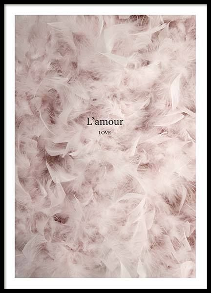 L'amour Poster in der Gruppe Poster / Größen…