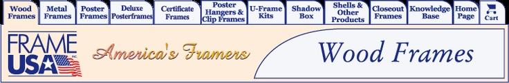 Frame USA, Inc. - Wood Picture Frames, Print Frames, Art Pictures, Artwork, Photos, Awards