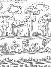 All Free Nature Coloring Pages To Print Out And Enjoy From Doodle Art Alley
