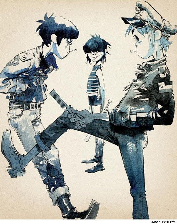 """Gorillaz"" by Jamie Hewlett* • Blog/Website 