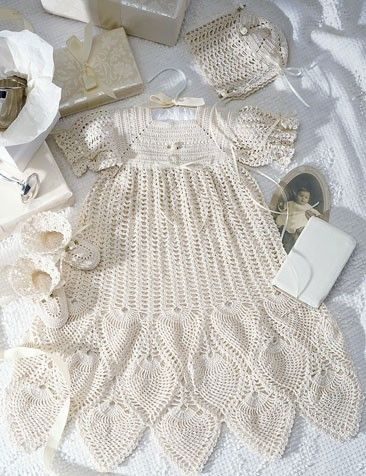 107 Best Baby Crocheted Christening Dress Images On