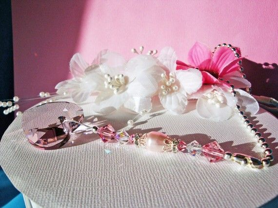 Ceiling Fan Pull Chain Swarovski Pink by CrystalBlueDesigns, $19.25