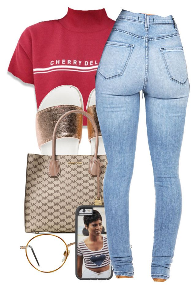 """""""CHERRY"""" by yasmeen4740 ❤ liked on Polyvore featuring BUSCEMI, Michael Kors and GlassesUSA"""