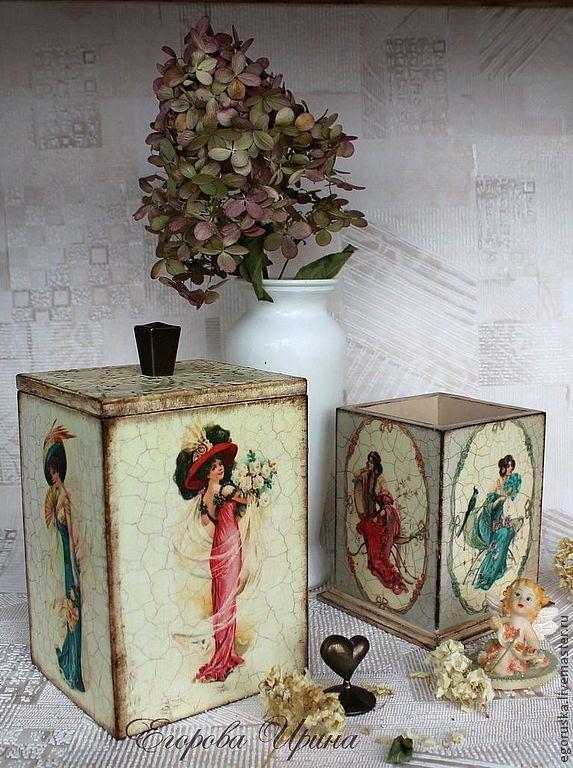 Baskets, boxes handmade. Fair Masters - handmade. Buy Box Vintage beauties. Handmade. Beige, Interior