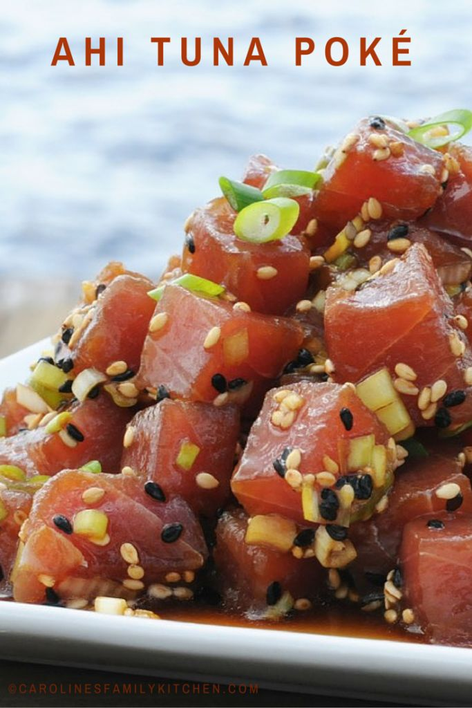 Ahi Tuna Poke Recipe....I used salmon instead of tuna because we were having tuna steaks, also....turned out wonderful!!!