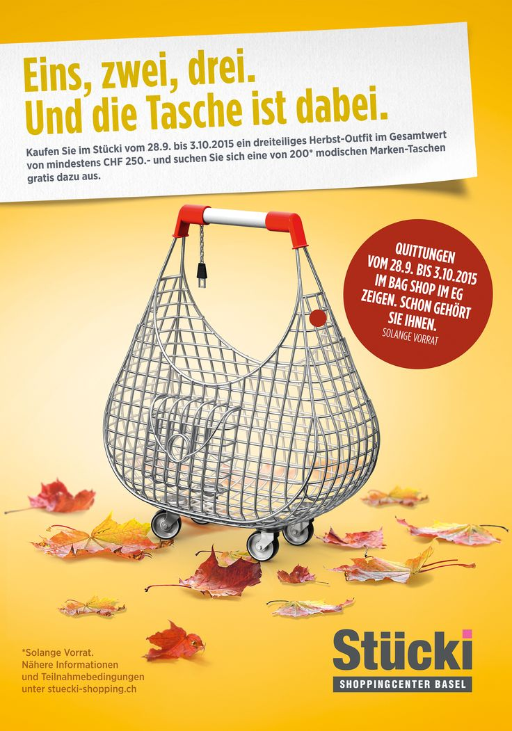 Herbstkampagne Stücki Shoppingcenter Basel