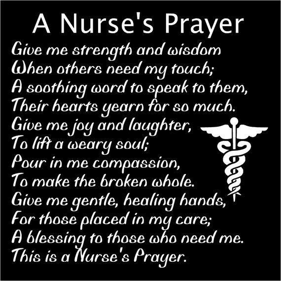 Nurse's Prayer Nurse Tribute Nurse by ThreeDamesDreamin on Etsy