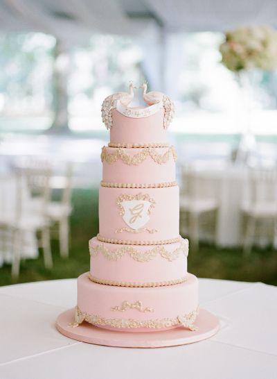 Rose Quartz hued wedding cake: http://www.stylemepretty.com/2015/12/03/pantone-2016-rose-quartz-serenity-wedding-inspiration/