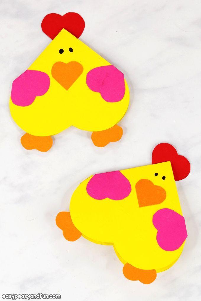 Herz Huhn Craft – Einfache Valentinstag Karte Idee   – Willkommen in der Markenwelt