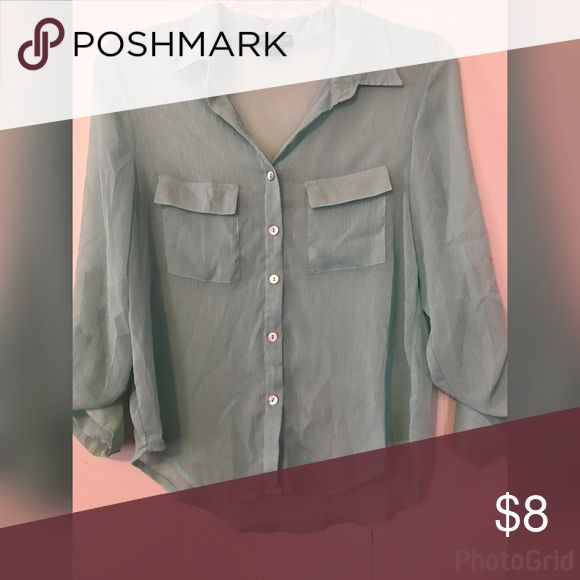 About A Girl sheet mint shirt Size large excellent condition Tops Button Down Shirts