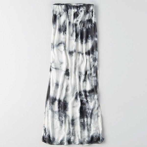 Don't Ask Why Side Slit Maxi Skirt ($30) ❤ liked on Polyvore featuring skirts, grey, long maxi skirts, long grey maxi skirt, maxi length skirts, side slit skirt and long gray maxi skirt