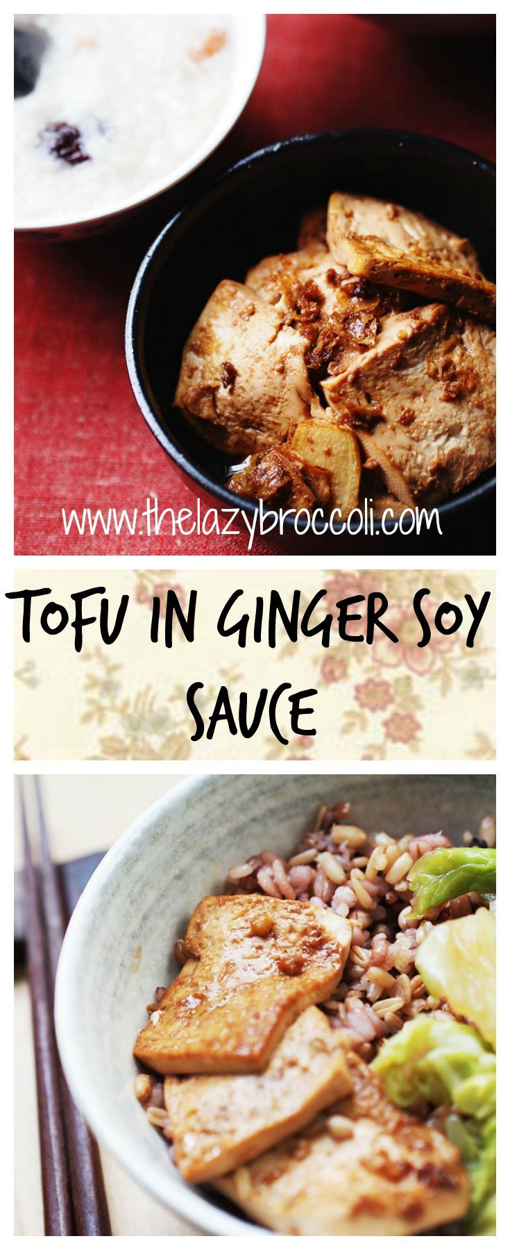 Tofu In Ginger Soy Sauce                                                                                                                                                                                 More