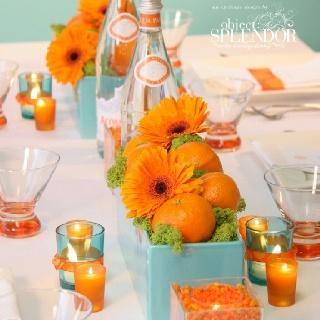 Orange & turquo