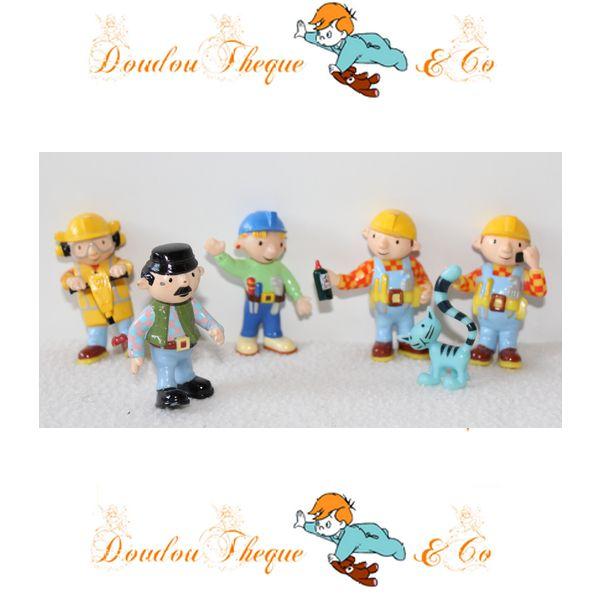 Ensemble de 6 figurines BOB LE BRICOLEUR HIT pvc 6 cm