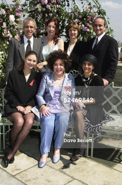 Actress Elizabeth Taylor celebrates her investiture after being made a Dame by the Queen on May 16, 2000. Elizabeth was joined at The Dorchester by her sons Michael and Christopher Wilding and their wives and her daughtrers Maria and Lizzie