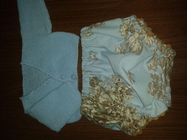 Bombacho y chaqueta de punto para niño de 1 año