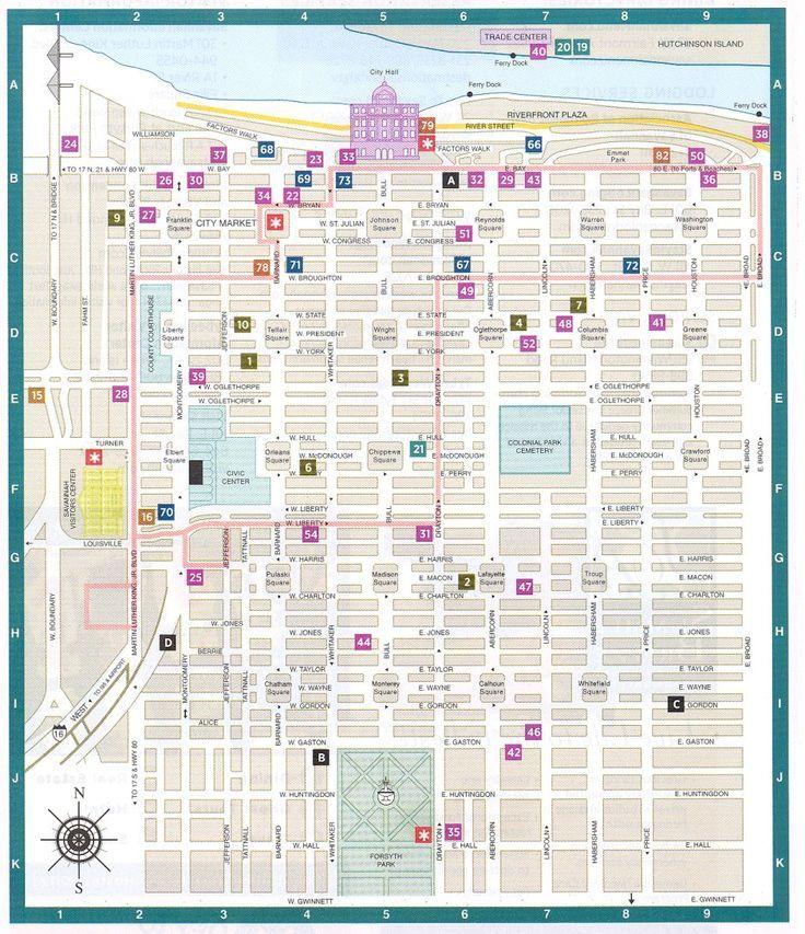Savannah Ga Downtown Historic District Map