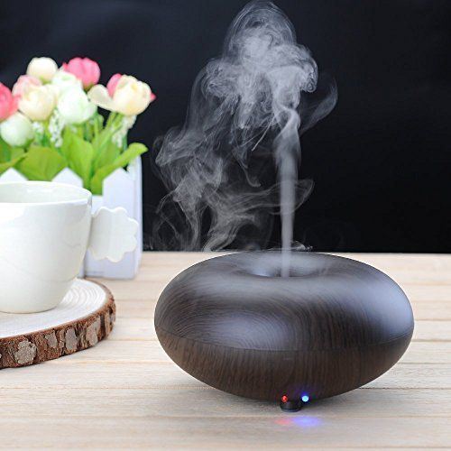 PYRUS Aroma Diffuser Wood Grain LED Electric Ultrasonic Aromatherapy Scented Essential Oil Diffuser Cool Mist Humidifier Air Purifier >>> For more information, visit image link.