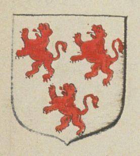 Jeanne HURTAULT. femme de SAVARY de la cour de Saumur. Porte : d'argent à trois lions de gueules | N° 162 > Saumur