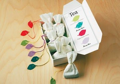 Homemade tea gifts, using coffee filters