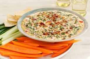 Dip de espinaca, tocino y queso Receta - Comida Kraft