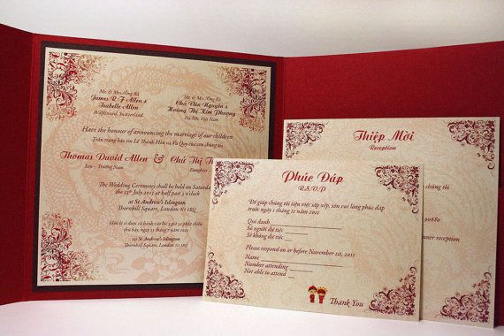 Modern Vietnamese Wedding Invitations