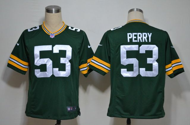 Nike NFL Jerseys Green Bay Packers Nick Perry #53 Green