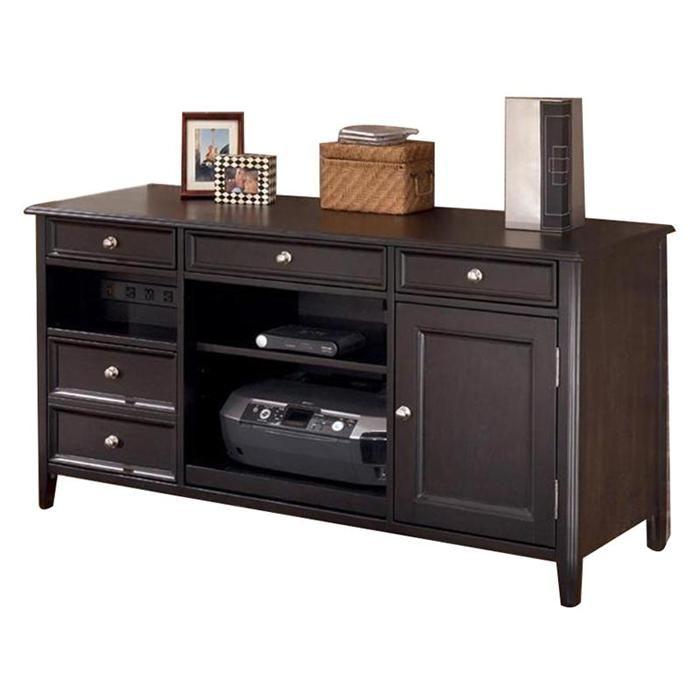 Carlyle Large Credenza in Almost Black   Nebraska Furniture Mart
