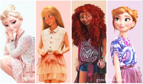 Modern day teen disney princesses disney movies pinterest disney posts and disney princess - Princesse anna et elsa ...