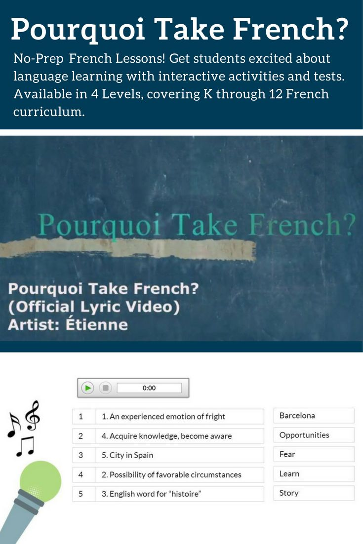 No-Prep French Lessons! Fully online, interactive activities and tests available in 4 Levels, spanning K to 12 curriculum expectations.